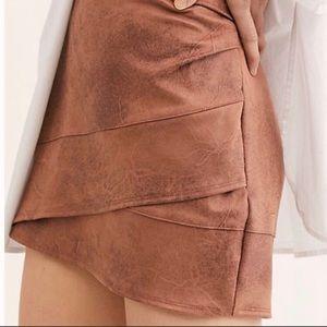 FP Summer Love Vegan Suede Mini Skirt